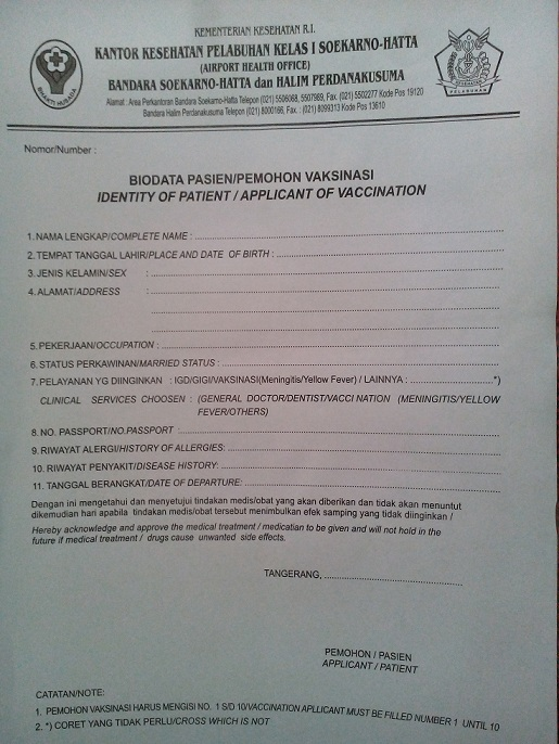 alamat lokasi suntik vaksin meningitis di tangerang